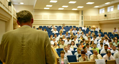 Photo of lecture hall.
